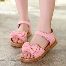 Летняя детская одежда детские сандали для девочек летняя одежда для малышей; для детей ясельного возраста Одежда для детей; малышей; девочек платье с бантом для принцессы Повседневная обувь; сандалии