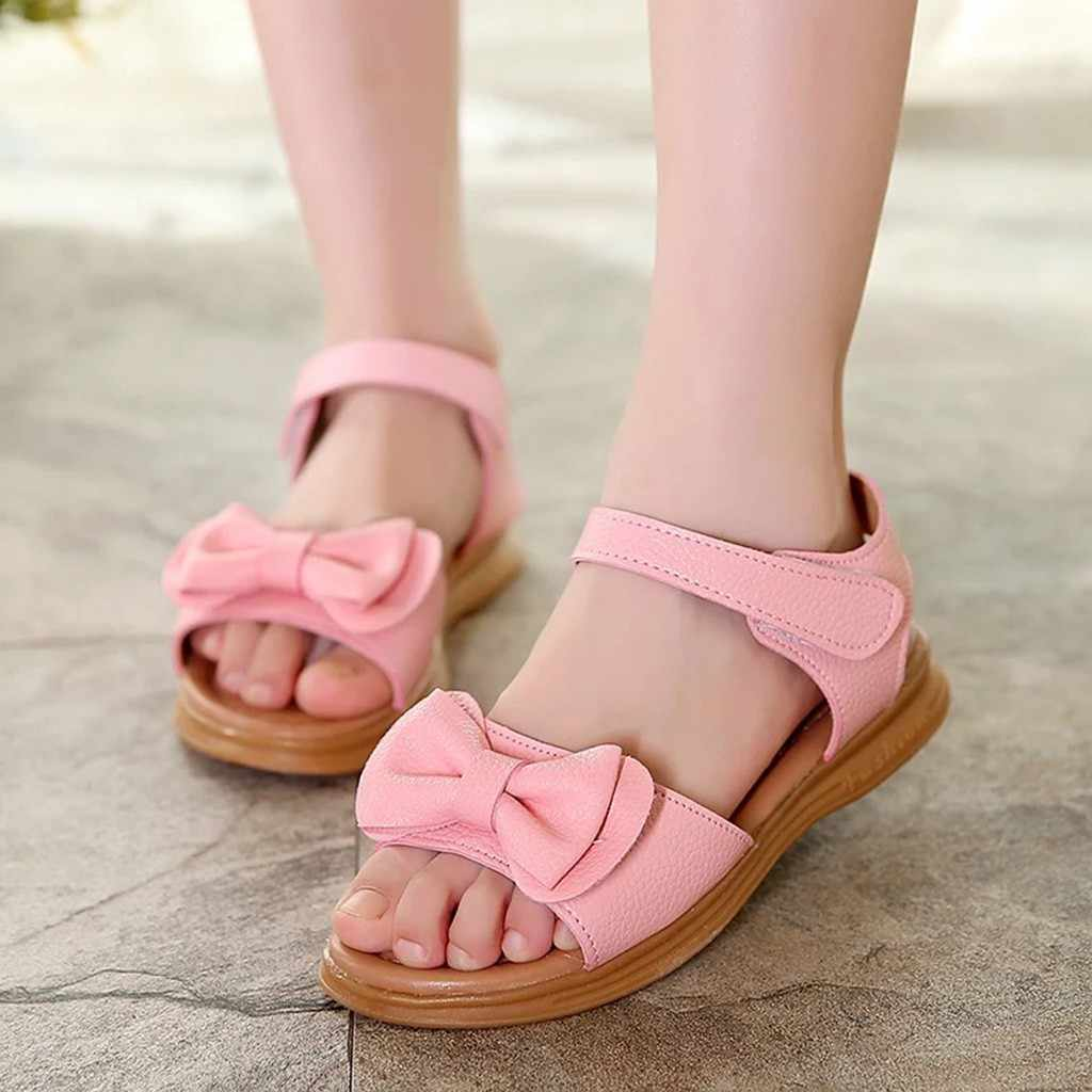 2019 New High quality Children Toddler Infant Kids Baby Girls Bowknot Princess Casual Shoes Sandals fille enfant  Children Shoes