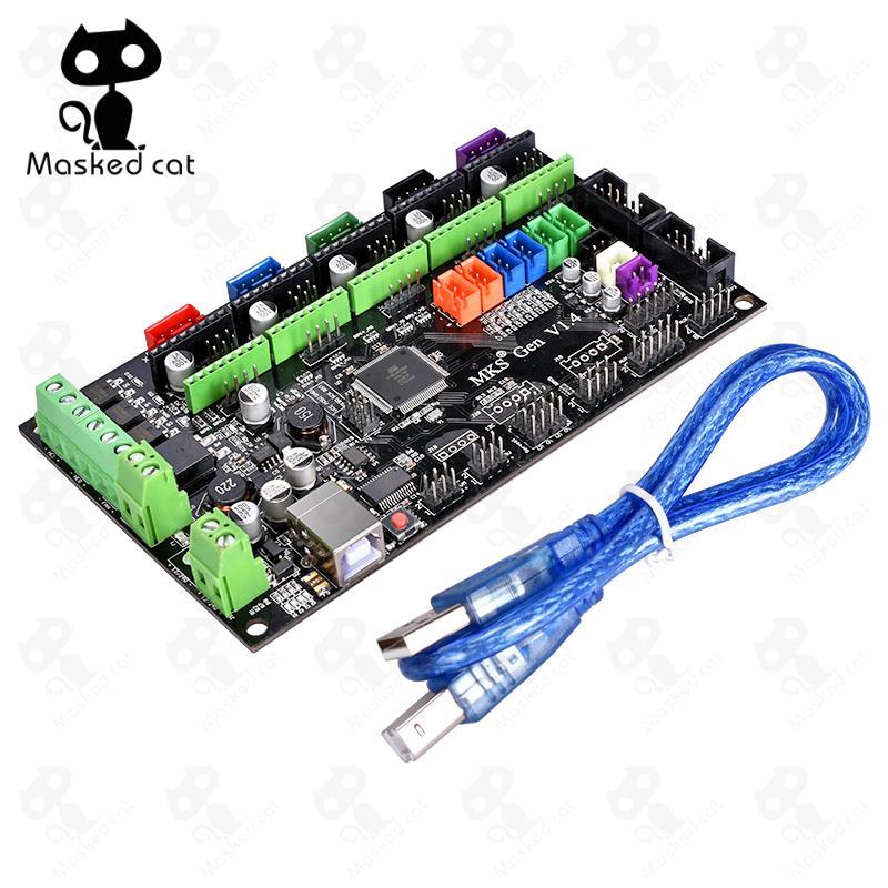 все цены на 3D printer MKS Gen V1.4 control board Mega 2560 R3 motherboard RepRap Ramps1.4 + drive TMC2100/TMC2130/TMC2208/A4988/DRV8825