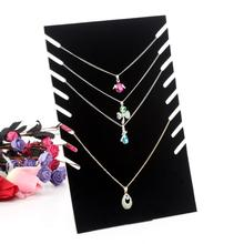 Black Velvet Jewelry Display Shelf Necklace Pendant Chain Frame Show Case Organizer Tray Stand