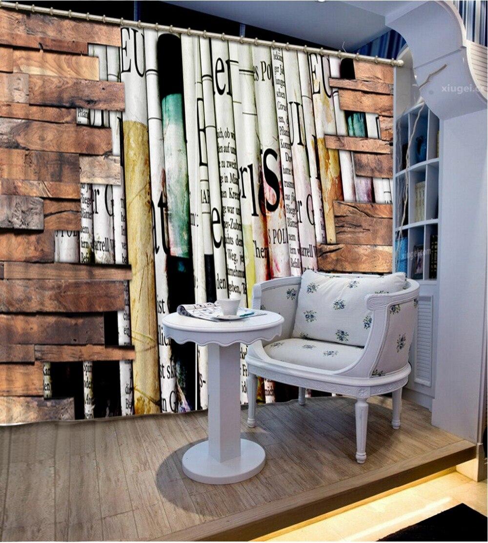 Rideaux 3d personnalisés livre créatif mur 3d rideaux de fenêtre pour salon rideaux de luxe blanc 3d rideaux européens