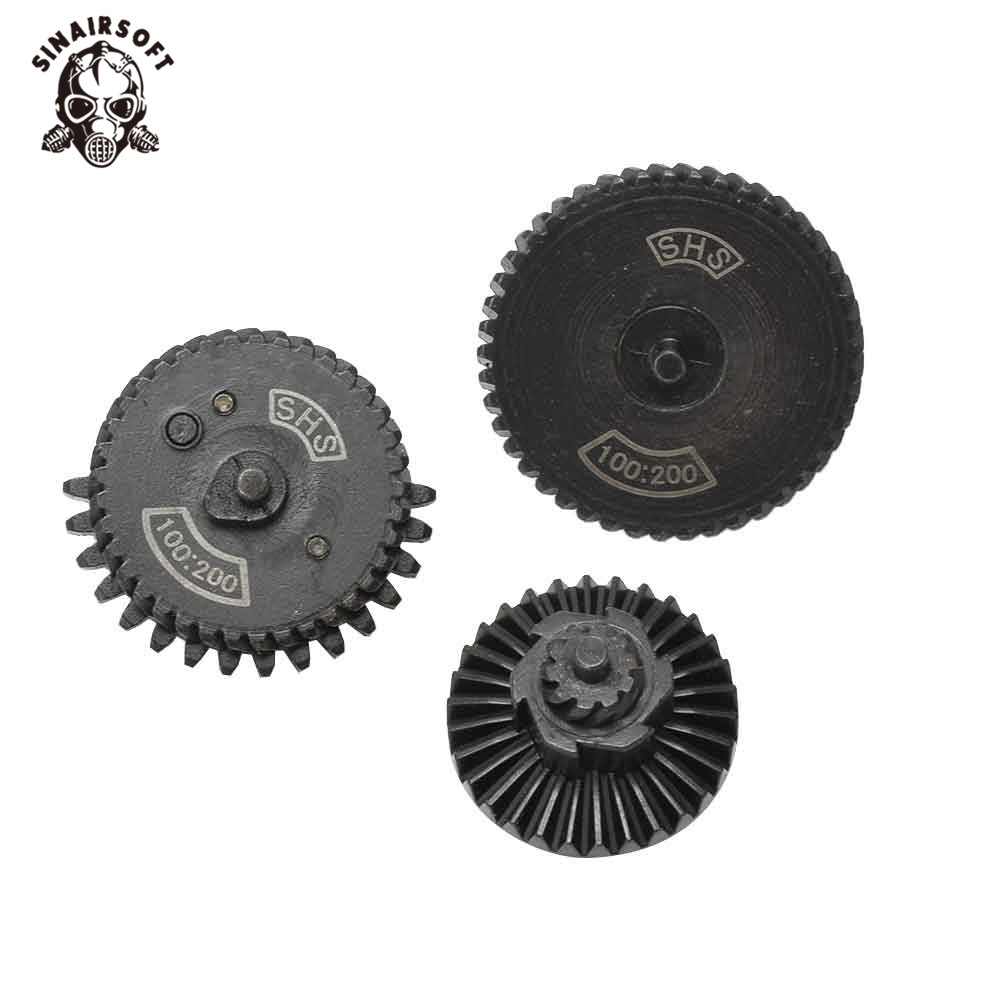 SHS 100:200 Reinforcement Helical Super Torque AEG Gear Set Fit AEG Airsoft M4 AK Gearbox For Hunting Paintball shooting