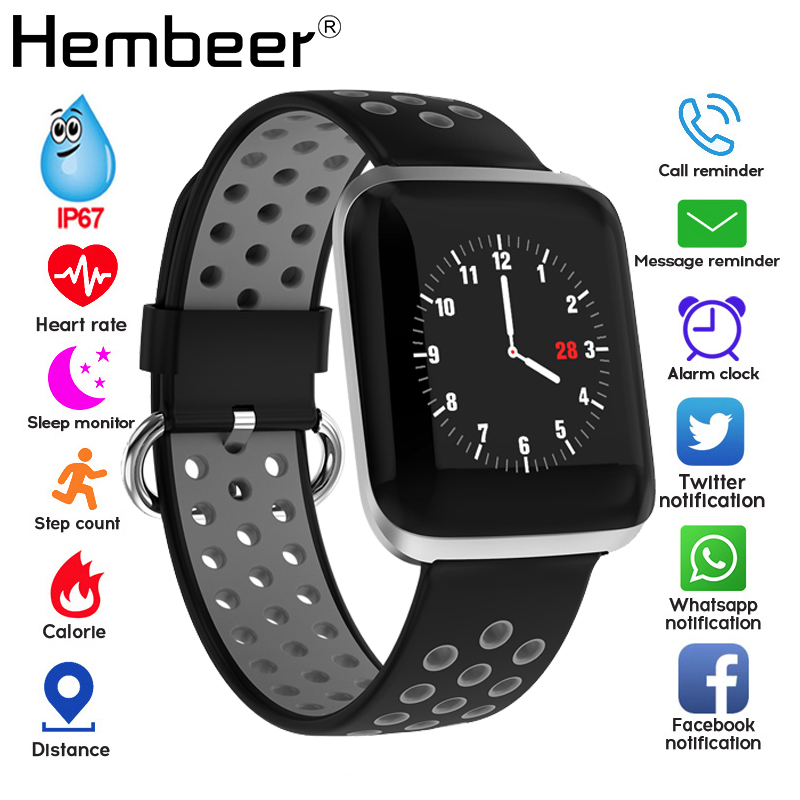 Smart Band Heart Rate Blood Pressure Fitness Tracker Bracelet Weather Call Reminder Wristband for iOS Android