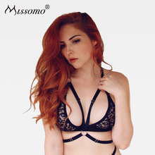 Missomo Lace Bras For Women Sexy Perspective Bralet Modis Push Up Transparent Bralette Plus Size Cup Backless Brassiere Lingerie