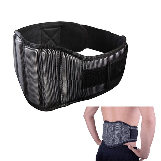 Adjustable Sponge Nylon Gym Belt Weightlifting Waist Belt Fitness Bodybuilding Weight Lifting Squat Back Support Protection Belt