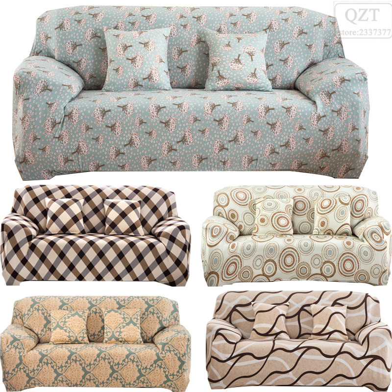 Case sofa cover colorful printed fabric corner couch