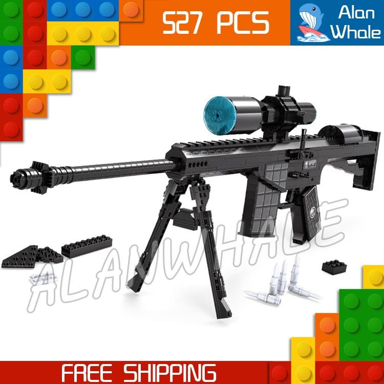 527 pièces modèle M107 Sniping fusil portée jouet arme à feu pour militaire assaut soldats Kit de construction blocs jouets Compitable avec Lego