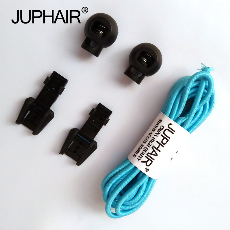 JUP 1-50 Pairs Sky Blue Colored Shoe Laces Children Fashion Elastic Rubber Adjustable Shoelaces Fashion Lazy Shoelace Strings jup 50 pairs sneaker shoelaces skate boot laces outdoor sport casual multicolor bumps round shoelace hiking slip rope shoe laces