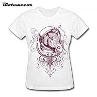 A Horse With A Helmet Women T Shirts Fashion Short Sleeve 100 Cotton T Shirt Ladies