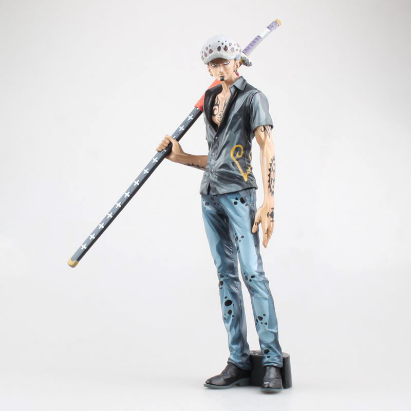 Free Shipping 11 One Piece Anime Trafalgar Law Big Cartoon Color Boxed 29.5cm PVC Action Figure Collection Model Doll Toys Gift anime one piece dracula mihawk model garage kit pvc action figure classic collection toy doll