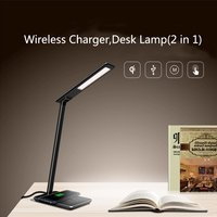 Wireless Charger And Smart Touch LED Eye Protect Table Lamp For Samsung Note 8 S6 S8