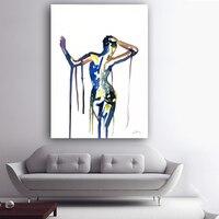 2016 Новое Прибытие Ню Живопись Акварель Body Art Красочный Рисунок Холст Картины Печатает Картины Для Гостиной Домашнего Декора