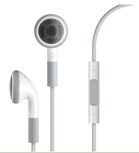 Free shipping original volume with mic Earphone Headphone For Apple iPod/iPhone/iPad, MP3 MP4 Player 3.5mm In-Ear Earphone
