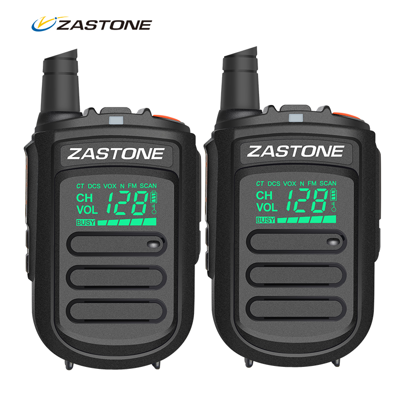 (2pcs) Zastone Mini9 128 Channels Uhf Mini Body Walkie Talkie Two Way Radio 5W 400-470mhz Portable Handheld Ham Radio