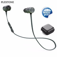PLEXTONE BX343 Waterproof Bluetooth Headphones Wireless Sports Magnet Earphones With Microphone Double Battery 8 Hours Playtime