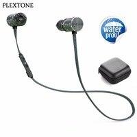 PLEXTONE BX343 Waterproof Bluetooth Headphones Wireless Sports Magnet Earphones With Microphone Double Battery 8 Hours Playtime