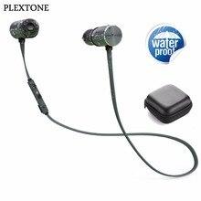 PLEXTONE BX343 Ímã Esportes Fones de Ouvido Bluetooth Sem Fio Fones De Ouvido Com Microfone À Prova D' Água Dupla Bateria 8 Horas Playtime