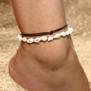 Bohemian Multilayer Anklet Bracelet Shell Turtle Anklets For Women Summer Beach Barefoot Bracelet Ankles Fashion Beach Jewelry 1