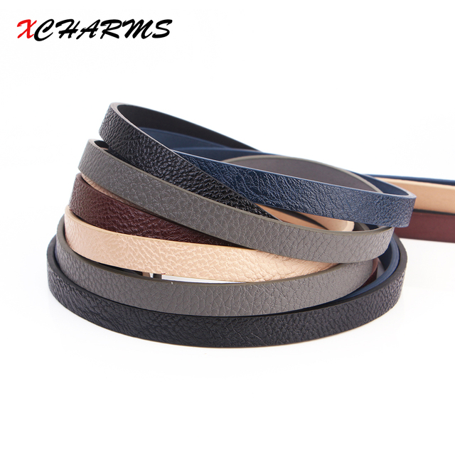 10MM flat leather cord rope/Solid color 2/accessories parts/jewelry findings/hand made/jewelry making/bracelet material