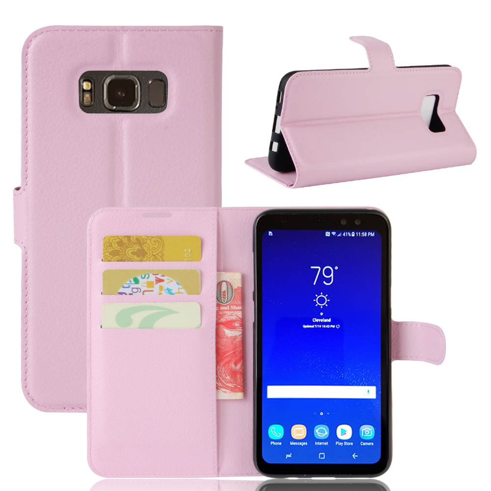 CYBORIS For Samsung Galaxy S8 Active case PU Leather Phone