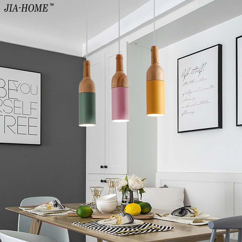 Modern pendant lights for dinning room Hotel bar Beer design Nordic creative minimalist pendant lights bar hang lamp fixtures creative football bar glass beer cup