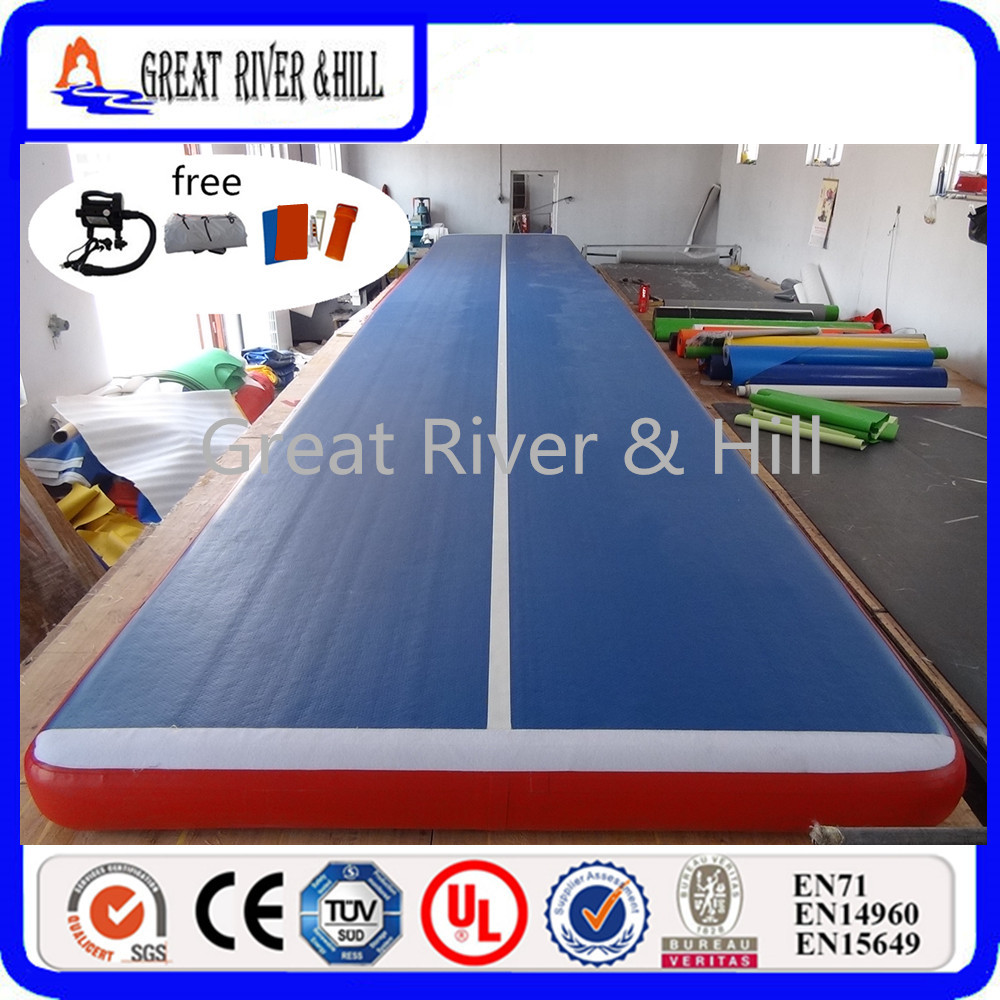 factory sale Great river & hill Fedex Shipping Popular Inflatable Gymnastics Mat/Gym Mat/Inflatable Air Track 5m x2m x20cm