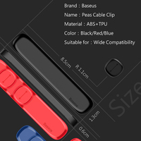 Baseus Cable Organizer Magnetic Cable Management USB Cables Holder Silicione Flexible Desktop Clips for Mouse Wire Organizer