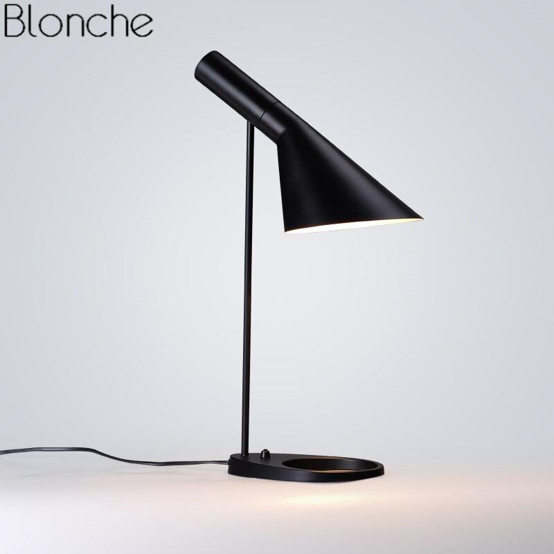 Replica Louis Arne Jacobsen Table Lamps for Bedroom Modern AJ Desk Lamp Study Stand Light Fixtures Home Loft Decor Luminaire E27 цена