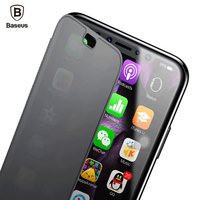 Baseus Ultra Thin Flip Case For IPhone X Touchable Tempered Glass Film Back TPU Case For