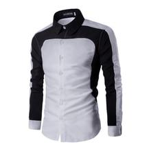 2017 spring men's shirt, fashion men's business shirt, men's long sleeve Fight color casual shirt Slim