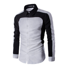 2017 spring men s shirt fashion men s business shirt men s long sleeve Fight color