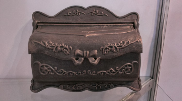 bronzed cast iron mailbox rustic iron mail box fashion vintage bucket tin newspaper box post