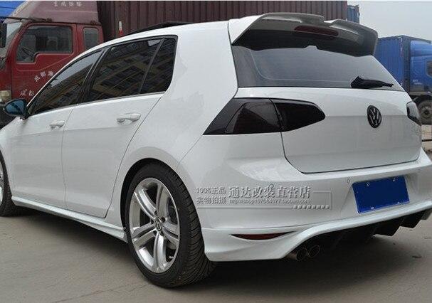 Pour Volkswagen Golf 7 MK7 becquet de toit de fenêtre arrière becquet ABS matériel adhésif installation apprêt et peinture de cuisson couleur