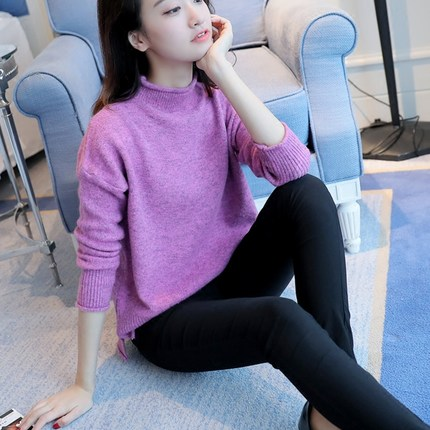 Women Knitted Turtleneck Sweater 2019 Autumn Winter Oversized Pullovers For  Girls Long Sleeve Slim Cashmere Sweaters