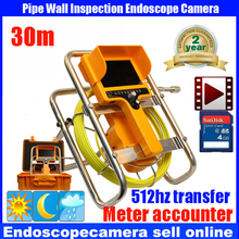 30m 512HzTransmitter CCTV factory underground pipe sewer camera for sewage pipe,drain pipe inspection with meter counter