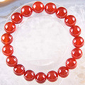 "Free Shipping Stretch 10mm Round Beads Natural Stone Red Carnelian Bracelet 8"" 1Pcs LH1735"