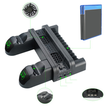 Get more info on the 2019 New PS4 Slim Pro Multi-function Charging Stand PS4 Host Cooling Rack Game Controller Charger Pro Gaming Accessories