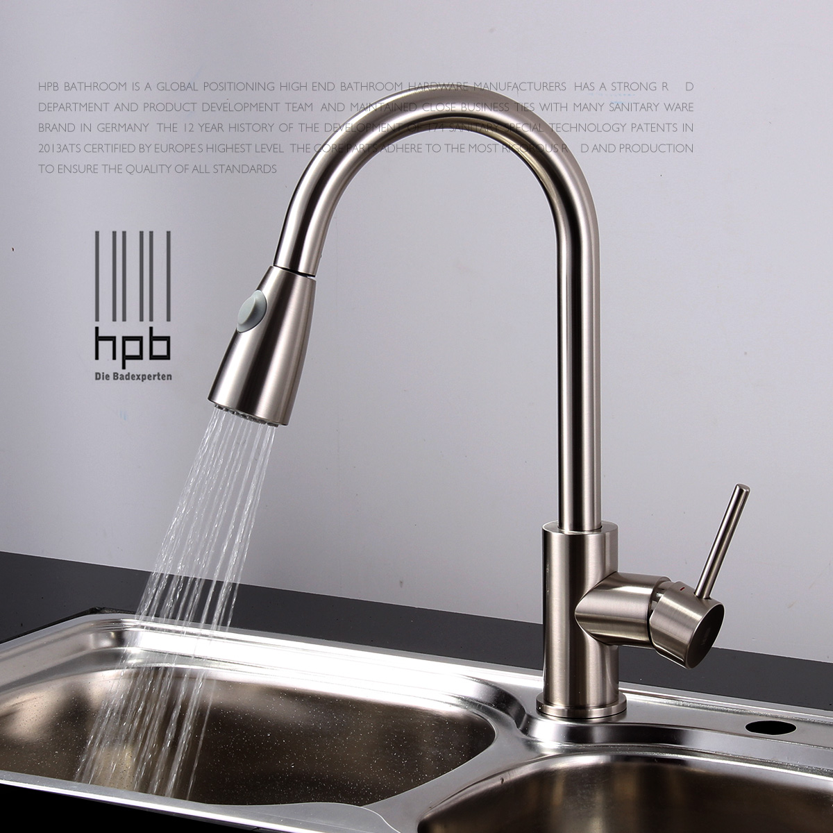 Kitchen Faucet No Water: Brass Sink Mixer Hot And Cold Water Tap Pull Type