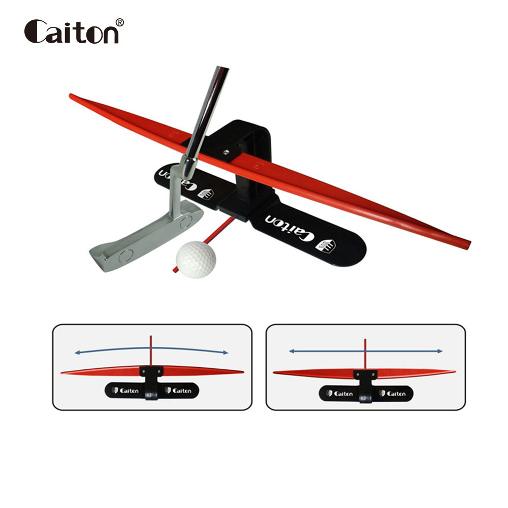 Caiton golf putting training aids Golf putter trainer golf putting practice golf putting green caiton portable golf putter set kit with ball hole cup for travel indoor golf putting practice top grade redwood golf gift