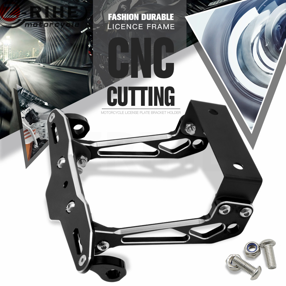 Motorbike Adjustable Angle Aluminum License Number Plate Holder Bracket For BENELLI BN600 TNT600 Stels600 Keeway TNT 300 BN302 motorcycle tail tidy fender eliminator registration license plate holder bracket led light for ducati panigale 899 free shipping