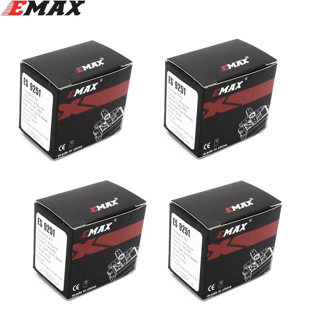 4pcs/lot EMAX ES9051 4.3g Digital Servo Pastic Gear 0.8kg Torque For 3D F3P Airplanes Wholesale