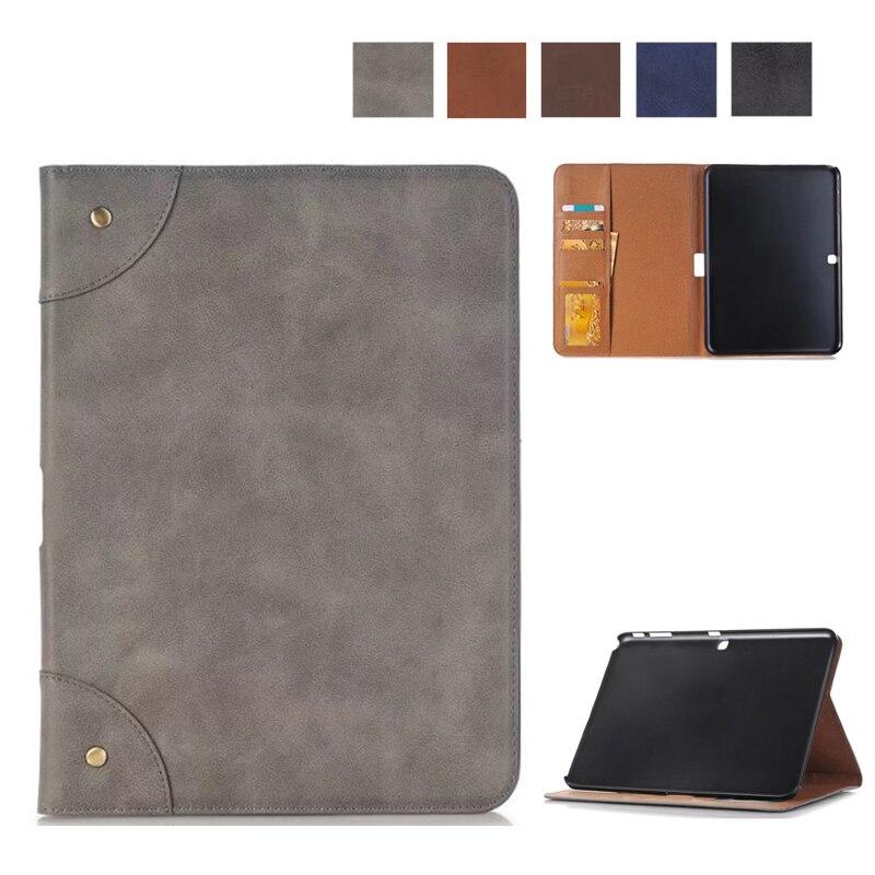 Bonne Qualité Mat PU Étui En Cuir Pour Samsung Galaxy Tab 4 10.1 T530 Tablet Couverture de Stand pour Samsung Galaxy Tab 4 T531 T533 T535