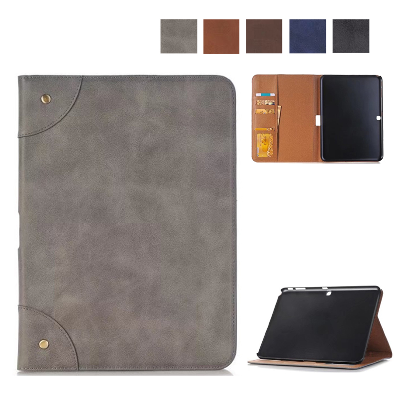 Good Quality Matte PU Leather Case For Samsung Galaxy Tab 4 10.1 T530 Tablet Stand Cover for Samsung Galaxy Tab 4 T531 T533 T535 colorful print wallet book card slot business cover stand pu leather case for samsung galaxy tab 4 10 1 t530 t531 t535 tablet