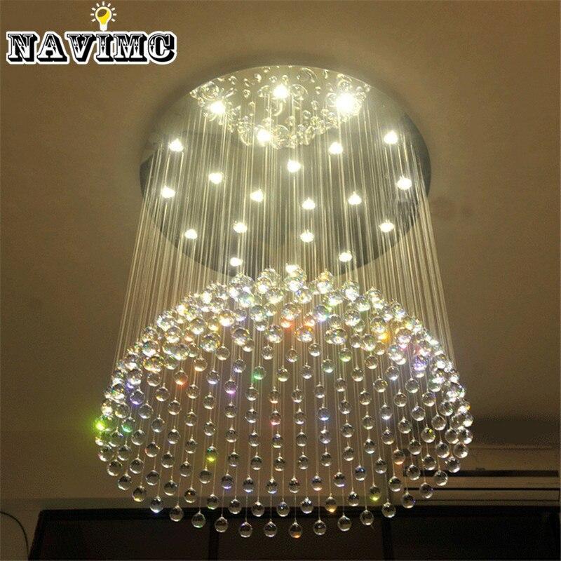 Luxury Hotel Project Large Lustre Crystal Chandelier Lighting Fixture For Villa Restaurant Fitment New Design Modern