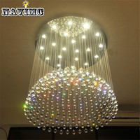 Luxury Hotel Project Large Lustre Crystal Chandelier Lighting Fixture For Villa Restaurant Fitment New Design Modern