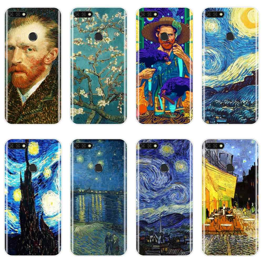 Soft Back Cover For Huawei Honor 8X MAX 10 9 8 Van Gogh Art Phone Case Silicone For Huawei Honor 7 8 9 10 Lite 7S 7X 7A 7C Pro