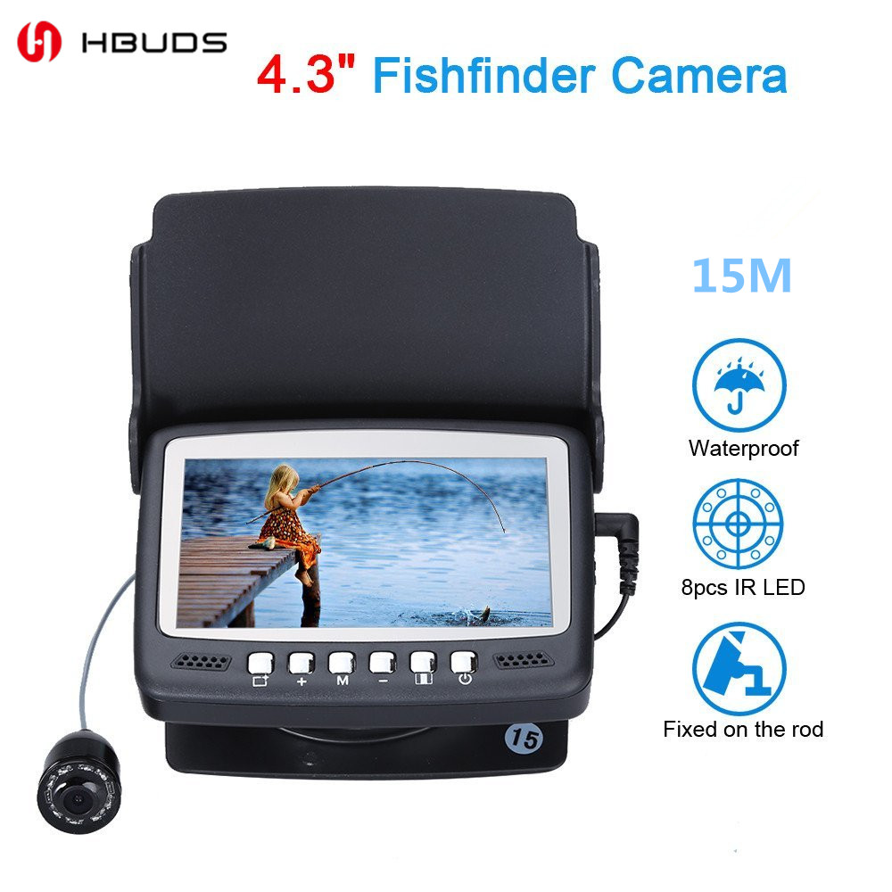 HBUDS 15M 4.3 LCD Ice/Sea Fish Finder 1000TVL Underwater fishing Camera With Sun-visor костюм le frivole покорная горничная l xl