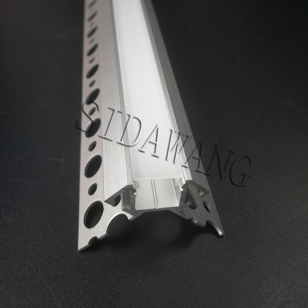 1 Meter/piece Gips Trimless Einbau Trockenbau Profil Für Außerhalb Wand Ecke, Trockenbau Aluminium Led Profil Für Streifen Sdw135 Mit Einem LangjäHrigen Ruf