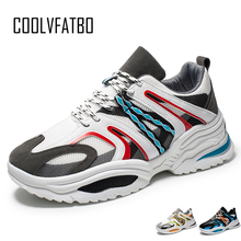 COOLVFATBO New Fashion Breathable Light Men Casual Shoes Lace-up Sneakers Man Adults High Quality Comfortable Male Footwear Shoe 2018 autumn new man breathable sneakers high quality leather luxury men sneakers streetwear casual men lace up sneakers footwear
