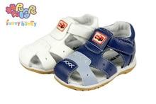 2 Couleurs En Cuir Véritable Petit Garçon Sandales Enfants Chaussures Pour Garçons de L'enfant Bébé D'été Sandales Enfants Garçons Non-Slip Sandales Infantile